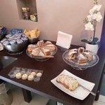 The breakfast ........