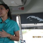 """our cute host"" in the bus when arrived to Abel Santa Maria Airport"