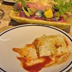 Lasagna tricolore al pesto