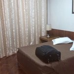 Double bed in two bedroom apartment