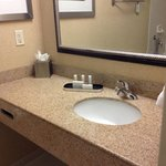 Nice bathroom with granite countertop.