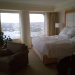 Amazing panoramic views...sorry for the messy bed.