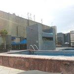 Pool + gym area