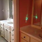 Master suite double vanity bathroom