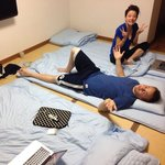 Traditional Japanese futons and plenty of space for 3 people!