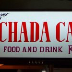 Chada Hostel and Cafe sign