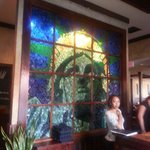 Stain glass entrance