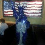 Mosaic liberty statue