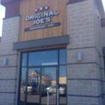 Outdoor signage heading into the restaurant, Original Joe's  |  3681 Portage Avenue, Winnipeg, M