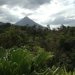 View of Arenal volcano from the porch