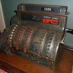 Very cool antique register in lobby area.
