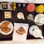 Breakfast in a bed