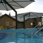 Some of the pools and spa