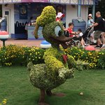 The topiary throughout the park is lovely