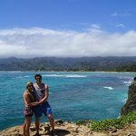 Anita & Rohon at Laie Point, Oahu