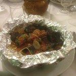 Spaghetti in Mandello restaurant