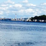 View of the Space Needle from Alki Beach