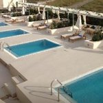 View of the private pool. Shame we were asked to choose one out of the 5 set outside