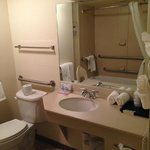 Spacious bathroom but that might be because it was handicap accessible.