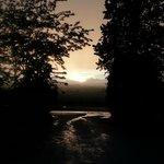 tramonto dopo la pioggia