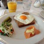 Blick auf ein customed breakfast