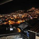 Vista nocturna de Cuzco