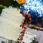 La torta è opera del Bosone Garden