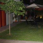 Small garden area of hotel