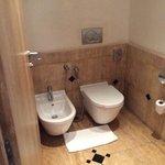 old tiles in bathroom