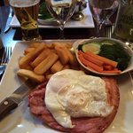 Gammon with eggs. Very very nice :)