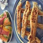Fruit platter and Baklava