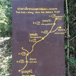 Map of nature walk about 500m from hotel