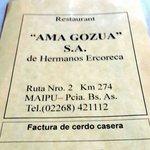 La carta de Ama Gozua