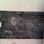 Blackboard in the kitchen
