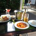 Amazing thai food at pool area