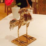 The Bird Statue on our table