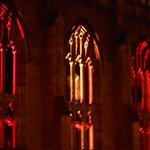The Windows at St Lukes Church lit up at Christmas look spectacular