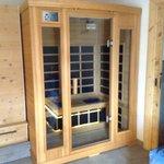 Sauna interna alla stanza