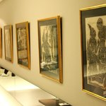 Buddha Lithographies from Rudolf Hampe are decorating the walls