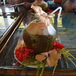 Fresh coconut water upon arrival