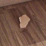 Se cayó de debajo del lavabo