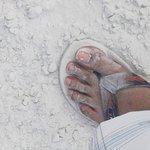 The White Beach sand