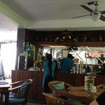 Inside the luhtu's coffee shop friendly staff