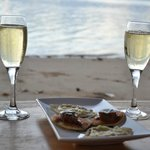 Canapés by the beach