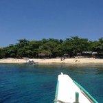 pristine blue water and beach