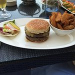 Hamburger at the Beach Restaurant.