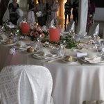 The Table prepared for the wedding dinner