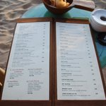 Sunset bar menu