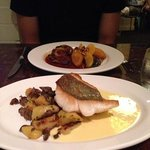 delicious dory fish of day with artichoke potatoes