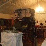 lovely old carriage in the restaurant